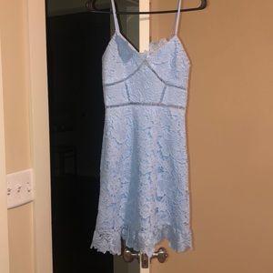 Aqua Eyelet dress blue